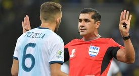 Argentina felt hard done by refereeing decisions after their loss to Brazil. AFP