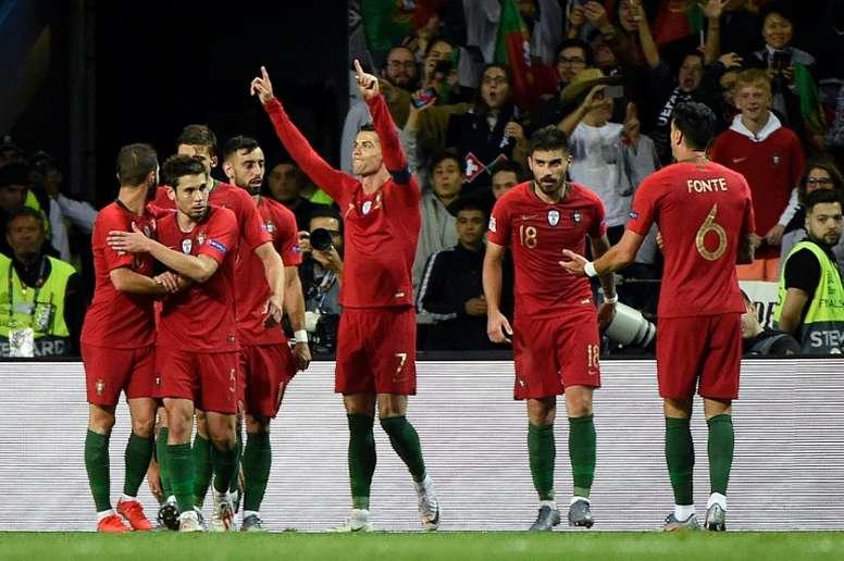 Les compos probables du match de qualification à l'Euro entre l'Ukraine et le Portugal. AFP
