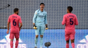Thibaut Courtois's Real Madrid were beaten by Cadiz on a weekend of shocks. AFP