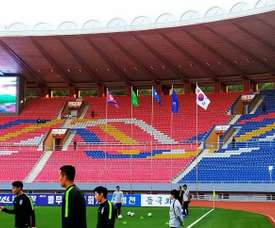 The match between the two Koreas ended goalless in closed doors encounter. AFP