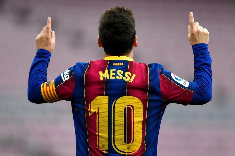Acordo total entre Messi e o Barça. AFP