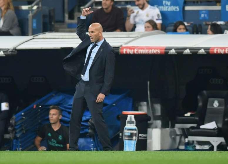 Zidane no consideró justa la derrota ante el Villarreal. AFP