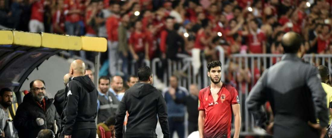 Walid Azaro banned for final. AFP