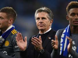 Claude Puel (centre) said the draw felt like a win. AFP