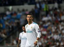 Ronaldo in action during the reverse fixture. AFP