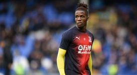 Zaha saw red after 'improper conduct'. AFP