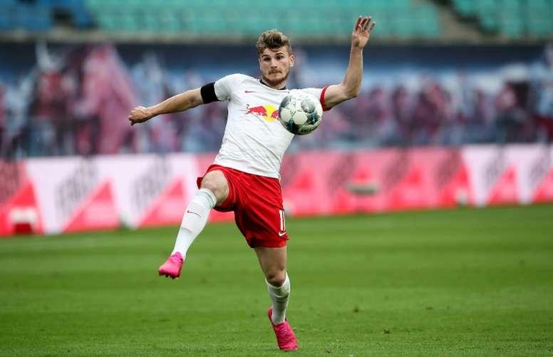 El RB Leipzig no contará con los goles de Werner, que fichó por el Chelsea. AFP