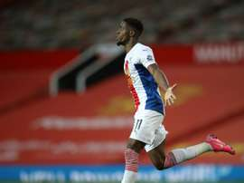 Wilfried Zaha got a brace in Palace's 1-3 victory over Man Utd. AFP