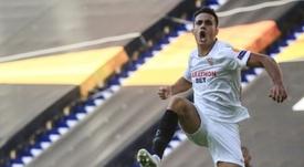 Reguilón, ambicioso y motivado para ganar la Europa League. AFP