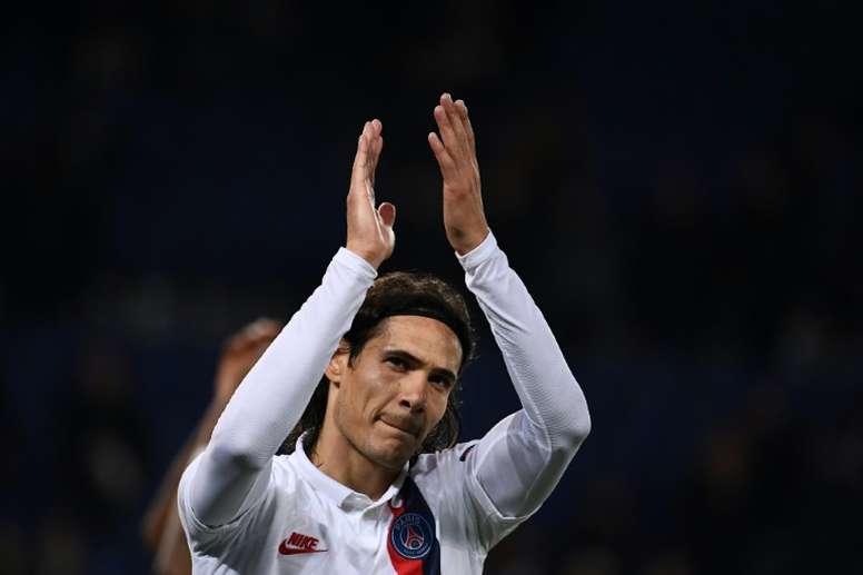 Cavani será titular ante el Brest. AFP