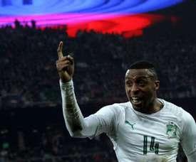 Jonathan Kodija got on the score sheet in Ivory Coast's victory over Zambia. AFP