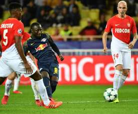 Naby Keita added gloss to the scoreline in Monaco. AFP