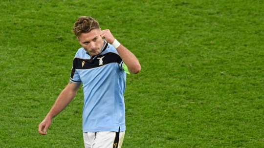 Lazio striker Ciro Immobile celebrates his penalty. AFP