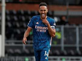 Aubameyang has signed a new deal. AFP