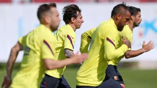 O Barça voltará a pisar no Camp Nou este sábado. AFP
