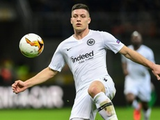 Barca target Jovic to stay at Frankfurt, says father. AFP