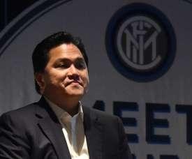 Erick Thohir fue presidente del Inter durante cinco años. AFP