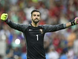 Portuguese goalkeeper Patricio joined Wolves this summer. AFP