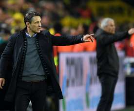 Bayern Munich coach Niko Kovac tries to inspire his faltering side against Dortmund. AFP
