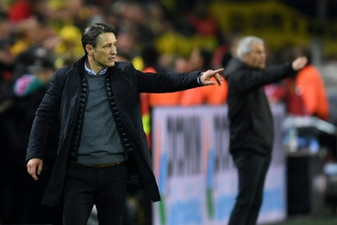 Bayern Munich coach Niko Kovac tries to inspire his faltering side against Dortmund. AFP