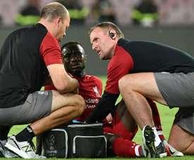 Naby Keita sort sur blessure. AFP