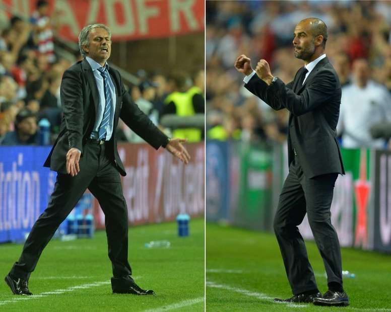 Great rivals: Jose Mourinho and Pep Guardiola. AFP