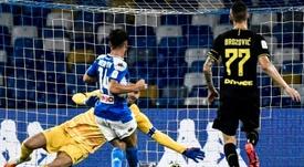 Mertens analizó el partido ante el Barça. AFP