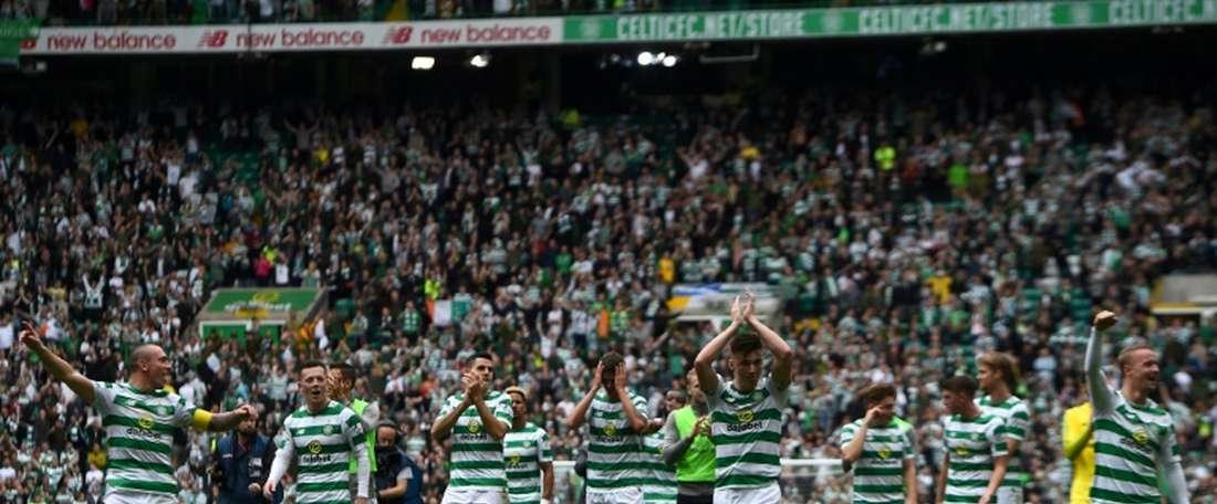 Le Celtic, vainqueur de la Coupe. AFP