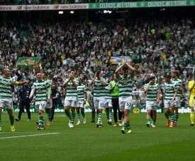 El Celtic ha sido proclamado campeón de la Premier escocesa. AFP/Archivo