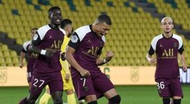 El PSG ganó 0-3 al Nantes en la novena jornada. AFP