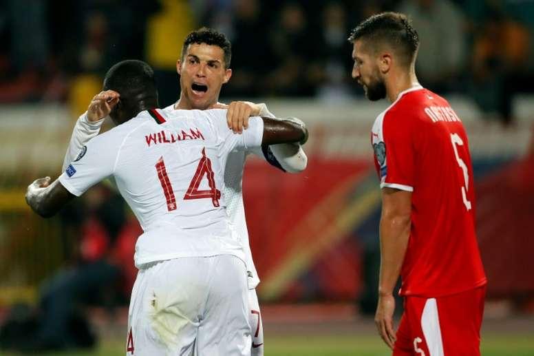 Les compos probables du match de qualification à l'Euro entre le Portugal et le Luxembourg. AFP