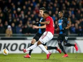 United drew 1-1. AFP