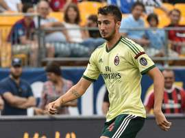 Bryan Cristante, pictured on July 27, 2014, has signed a six-month deal that could become permanent at the end of the season with Palermo