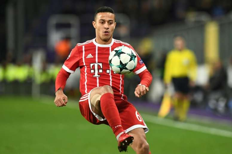 Thiago was signed for Bayern by Pep back in 2013. AFP