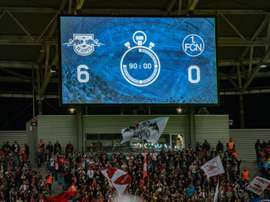Six of the best for Leipzig. AFP