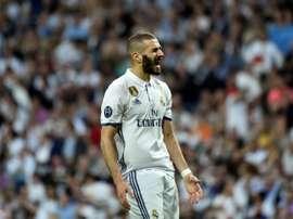 Real Madrids French forward Karim Benzema. AFP