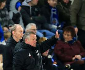 Chris Wilder was pleased with his Sheffield United side's performance against Wednesday. AFP