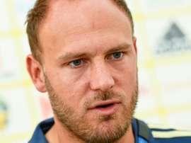 Granqvist ya piensa en el duelo con Kane. AFP