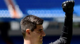 Courtois was keen to return to Madrid, where he previously played for Atletico. AFP
