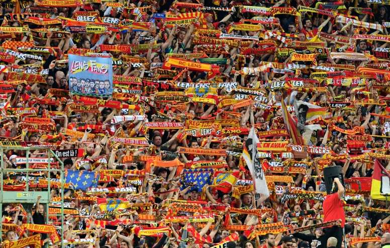 Lens are back in Ligue 1, but fans will be locked out for some time. AFP
