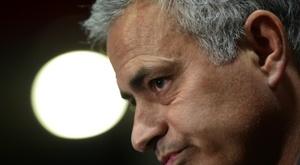 José Mourinho vivió una peculiar situación tras el United-Crystal Palace. AFP