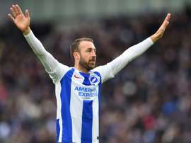 Glenn Murray continues to lead the way for Brighton in the top flight. AFP