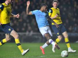 Man City to face Man Utd in League Cup semis. AFP