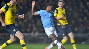 Man City to face Man Utd in League Cup semis. AFP