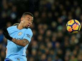 Jesus was on target in City's victory over Leicester. AFP