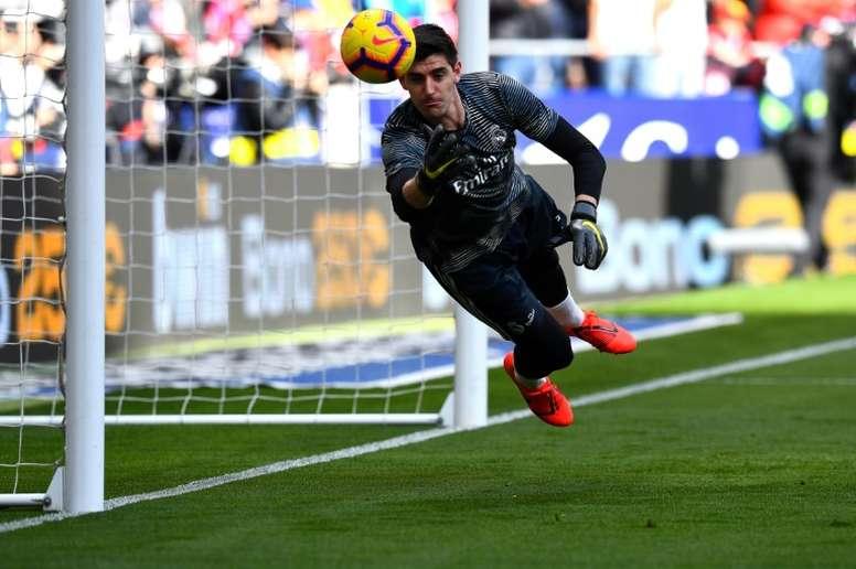 Courtois ne veut pas quitter le Real Madrid. EFE/Archive