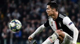 Cristiano Ronaldo was substituted yet again against AC Milan. AFP