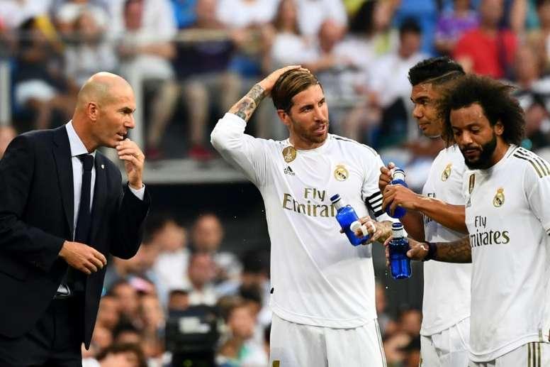 Zidane no conoce la derrota tras el parón de selecciones. AFP