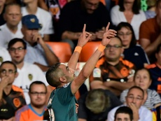 Ziyech fired home a magnificent opening goal as Ajax beat Valencia. AFP