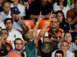 Ziyech fired home a magnificent opening goal as Ajax beat Valencia. AFP